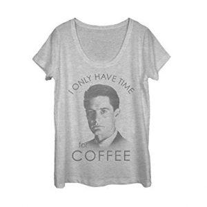 Twin Peaks Agent Cooper Coffee Womens Graphic Scoop Neck