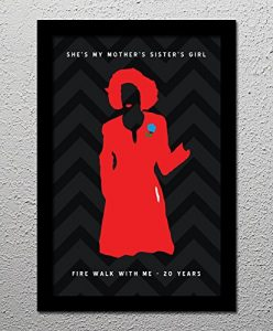 Fire Walk With Me – Twin Peaks – Original Minimalist Art Poster Print